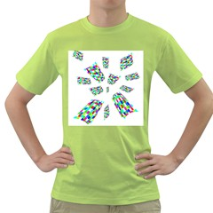 Colorful Abstraction Green T Shirt