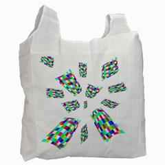 Colorful Abstraction Recycle Bag (two Side)  by Valentinaart
