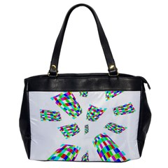 Colorful Abstraction Office Handbags by Valentinaart