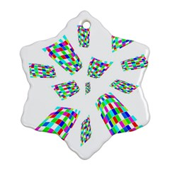 Colorful Abstraction Snowflake Ornament (2 Side) by Valentinaart