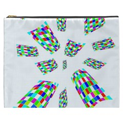 Colorful Abstraction Cosmetic Bag (xxxl)  by Valentinaart