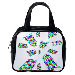 Colorful Abstraction Classic Handbags (one Side) by Valentinaart