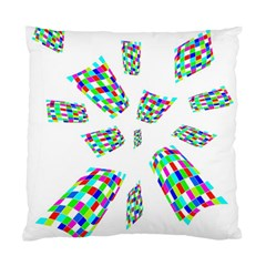 Colorful Abstraction Standard Cushion Case (two Sides) by Valentinaart