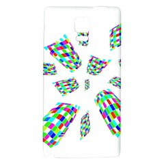 Colorful Abstraction Galaxy Note 4 Back Case by Valentinaart