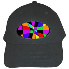 Abstract Colorful Flower Black Cap