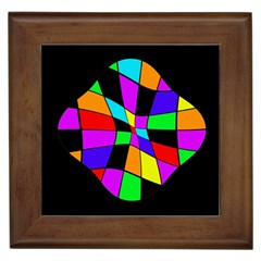 Abstract Colorful Flower Framed Tiles by Valentinaart