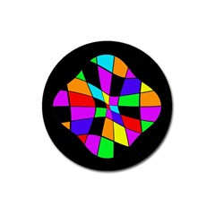 Abstract Colorful Flower Magnet 3  (round)