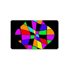 Abstract Colorful Flower Magnet (name Card)