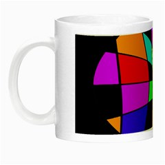 Abstract Colorful Flower Night Luminous Mugs