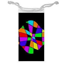 Abstract Colorful Flower Jewelry Bags