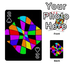 Abstract Colorful Flower Playing Cards 54 Designs