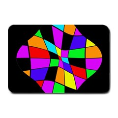 Abstract Colorful Flower Plate Mats
