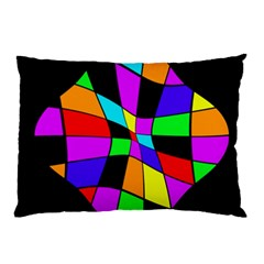 Abstract Colorful Flower Pillow Case by Valentinaart