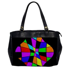 Abstract Colorful Flower Office Handbags by Valentinaart
