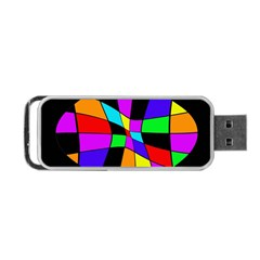 Abstract Colorful Flower Portable Usb Flash (one Side) by Valentinaart
