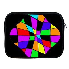 Abstract Colorful Flower Apple Ipad 2/3/4 Zipper Cases by Valentinaart