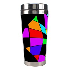 Abstract Colorful Flower Stainless Steel Travel Tumblers by Valentinaart