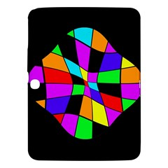 Abstract Colorful Flower Samsung Galaxy Tab 3 (10 1 ) P5200 Hardshell Case  by Valentinaart