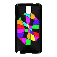 Abstract Colorful Flower Samsung Galaxy Note 3 Neo Hardshell Case (black) by Valentinaart
