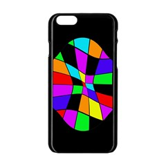 Abstract Colorful Flower Apple Iphone 6/6s Black Enamel Case by Valentinaart