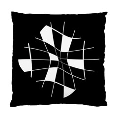 Black And White Abstract Flower Standard Cushion Case (two Sides) by Valentinaart
