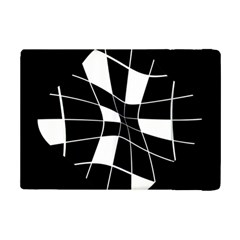 Black And White Abstract Flower Ipad Mini 2 Flip Cases by Valentinaart