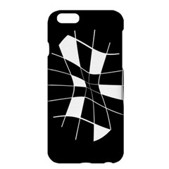 Black And White Abstract Flower Apple Iphone 6 Plus/6s Plus Hardshell Case by Valentinaart