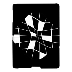 Black And White Abstract Flower Samsung Galaxy Tab S (10 5 ) Hardshell Case  by Valentinaart