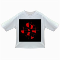 Red Abstract Flower Infant/toddler T Shirts by Valentinaart