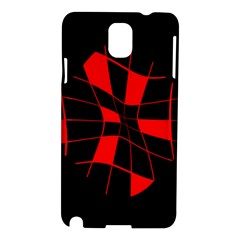 Red Abstract Flower Samsung Galaxy Note 3 N9005 Hardshell Case by Valentinaart