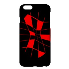 Red Abstract Flower Apple Iphone 6 Plus/6s Plus Hardshell Case by Valentinaart