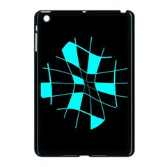 Blue Abstract Flower Apple Ipad Mini Case (black) by Valentinaart