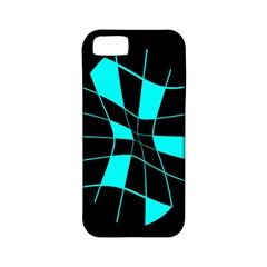 Blue Abstract Flower Apple Iphone 5 Classic Hardshell Case (pc+silicone) by Valentinaart