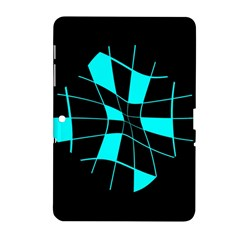 Blue Abstract Flower Samsung Galaxy Tab 2 (10 1 ) P5100 Hardshell Case  by Valentinaart