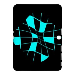 Blue Abstract Flower Samsung Galaxy Tab 4 (10 1 ) Hardshell Case  by Valentinaart