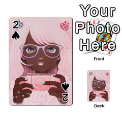 Gamergirl 3 P Playing Cards 54 Designs  by kaoruhasegawa