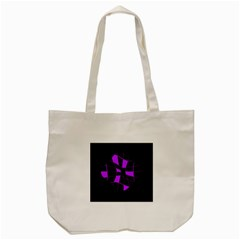 Purple Abstract Flower Tote Bag (cream) by Valentinaart