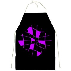Purple Abstract Flower Full Print Aprons by Valentinaart