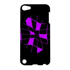 Purple Abstract Flower Apple Ipod Touch 5 Hardshell Case by Valentinaart
