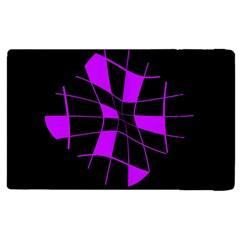 Purple Abstract Flower Apple Ipad 3/4 Flip Case by Valentinaart