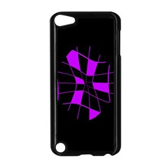 Purple Abstract Flower Apple Ipod Touch 5 Case (black) by Valentinaart