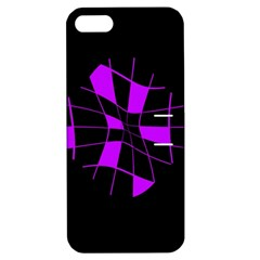 Purple Abstract Flower Apple Iphone 5 Hardshell Case With Stand by Valentinaart