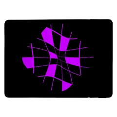 Purple Abstract Flower Samsung Galaxy Tab Pro 12 2  Flip Case by Valentinaart