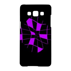 Purple Abstract Flower Samsung Galaxy A5 Hardshell Case  by Valentinaart