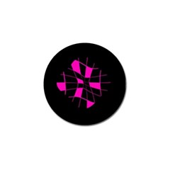 Pink Abstract Flower Golf Ball Marker by Valentinaart