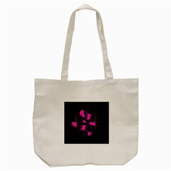 Pink Abstract Flower Tote Bag (cream) by Valentinaart