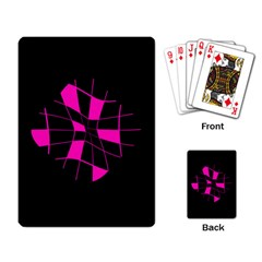 Pink Abstract Flower Playing Card by Valentinaart