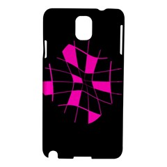 Pink Abstract Flower Samsung Galaxy Note 3 N9005 Hardshell Case by Valentinaart