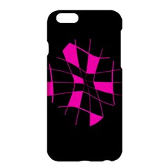 Pink Abstract Flower Apple Iphone 6 Plus/6s Plus Hardshell Case by Valentinaart
