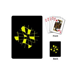 Yellow Abstract Flower Playing Cards (mini)  by Valentinaart